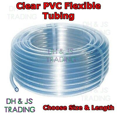 PVC Tube Clear Plastic Hose/Pipe - Fish/Pond/Car/Aquarium/Air/Windscreen/Feed