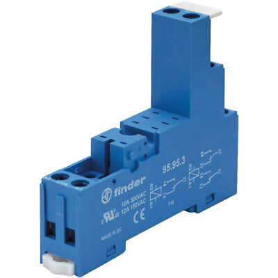 Finder 95.95.3 Relay Socket 250V 10A for 40.52 / 40.61 and 44.62 Series Relays