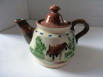 vintage teapot Torquay motto ware style unmarked possible reject piece