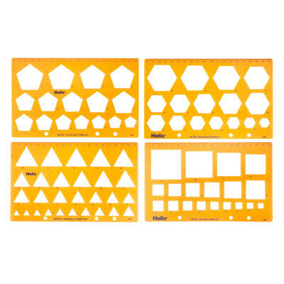 Helix H60010 Templates - Shapes - Set of Four