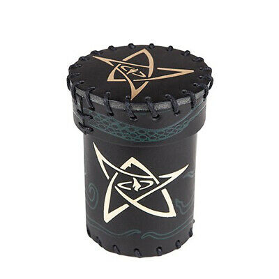 Q-Workshop: Call Of Cthulhu Black/Green With Gold Leather Dice Cup