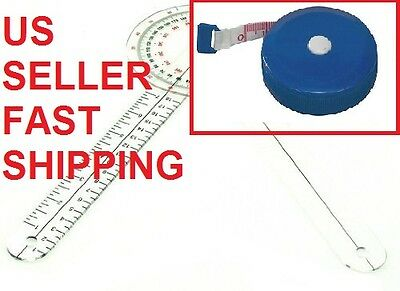 Brand New Goniometer 8 inch Plus Tape Measure Free Shipping - 2 pieces EGM-421TM