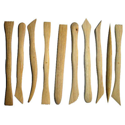 Major Brushes Boxwood Clay Tools 16cm 10 Pack