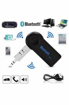 3.5mm Wireless Bluetooth Audio Stereo Music Receiver Car AUX Adapter USB Charger