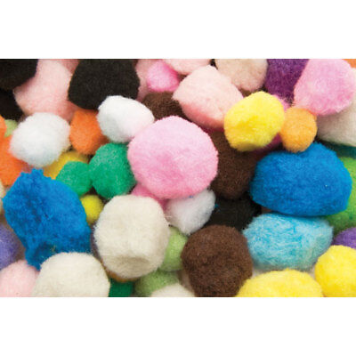 RVFM Poms, Assorted Colours and Sizes (approx 300) , 140g