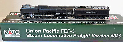 N Scale KATO FEF-3 4-8-4 'Union Pacific' Road #838 DCC Ready Item #126-0402