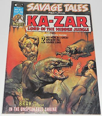 Savage Tales #7 Featuring Ka-Zar, a Curtis Mag.1974. Boris cover. VF+.  BOXED