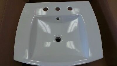 Gentil $233 Kohler Kelston Drop In Porcelain Bathroom Sink K 2381 8 0 White