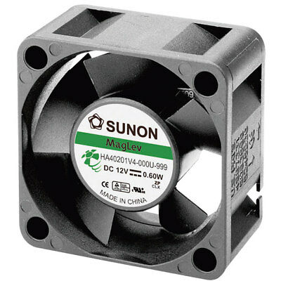 Sunon HA40201V4-0000-999 Brushless 12V DC Axial Fan, 40 x 40 x 20mm