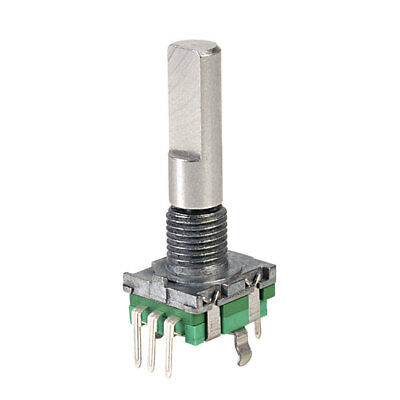 Taiwan Alpha 11mm Vertical Encoder with Switch 25mm Flat Metal Shaft 15PPR