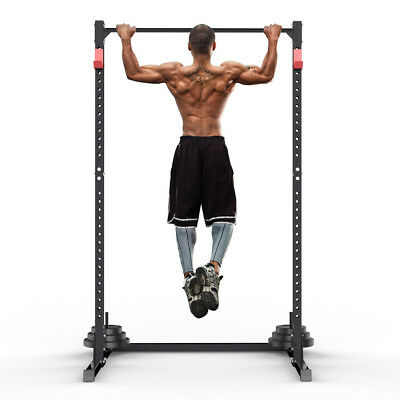 Heavy Duty Barbell Power Cage Squat Gym Rack Bench Press/Pull Up/Dip Stand