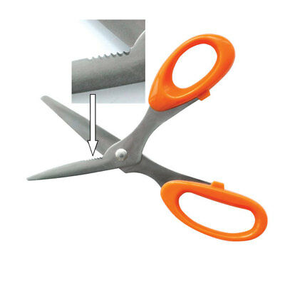 RVFM Electroplate Multipurpose Scissors / Snips with Serrated Blade Section