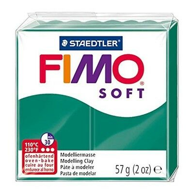 Fimo Soft Modelling Clay 56g Block Emerald - Polymer Oven 57g Bake Colours