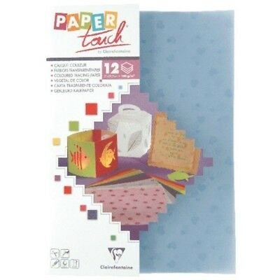 Coloured Tracing Paper, Mauve Hearts, 12 Sheets - Paper Hearts