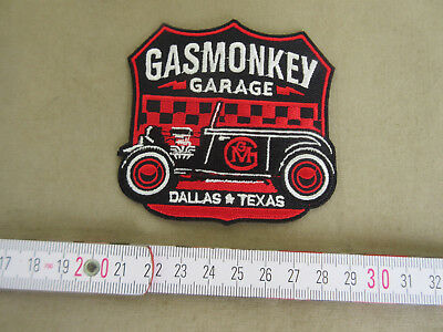 Gas Monkey Garage Dallas Patch V8 Big Block Rockabilly Nose Art Vintage Jacket