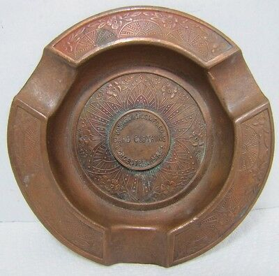 Antique HOWARD BROS Mfg Co Card Clothing WORCESTER MASS  Advertising Ash Tray