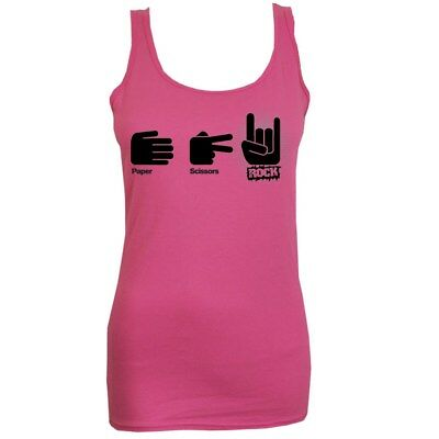 Paper, Scissors, Rocks Women's Pink Vest