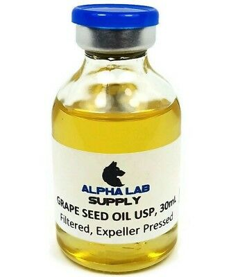 30mL Sterile Filtered Grape Seed Oil USP - Free Shipping