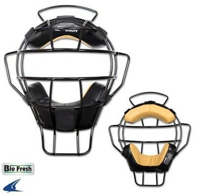 Champro Pro-Plus Aluminum Lightweight Umpire Mask BioFresh Ump Black/Silver CM81