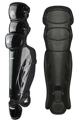 "Champro Pro-Plus Umpire Leg Guard 15.5"" Baseball Softball Protection Black CG355"
