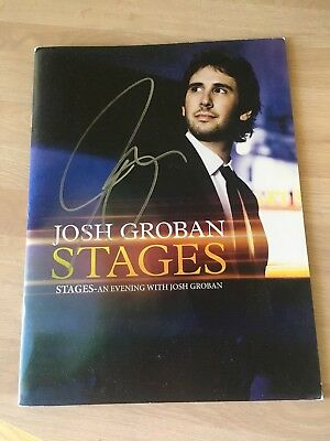 Josh Groban Stages Tour Picture Book Signed Auto - EX