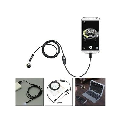 7mm 1.5m 6LED Lens USB Endoscope Camera Borescope for Android Phone Laptop