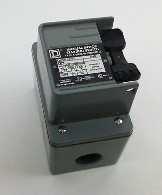 SQUARE D 2510 KW1H Manual Motor Starting Switch w/ Type 4 Watertight Enclosure