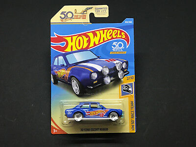 2018 Hot Wheels HW 50th Race Team > '70 Ford Escort RS1600, US Carded