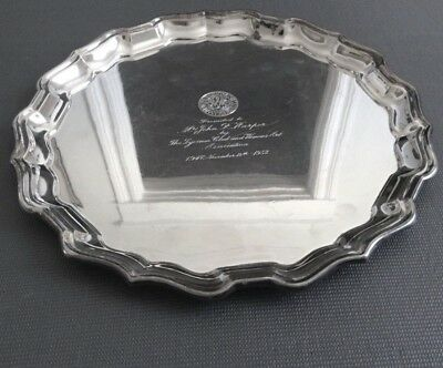 Sterling Silver Womens Art Association of Canada John R. Harper Platter /806g