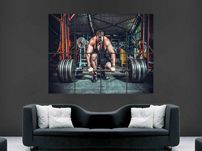 Weightlifting Poster Wall Art Gym Fitness Weights Image Giant Motivatiion