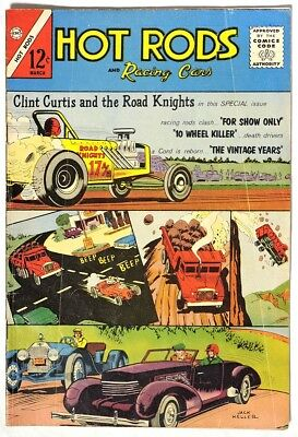 ESA0100. HOT RODS AND RACING CARS #62 by Charlton 2.0 GD (1963) SILVER AGE =