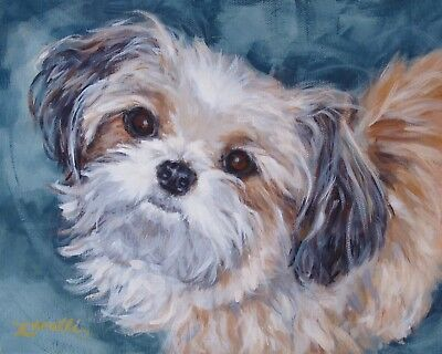 Box of 4 SHIH TZU Note Cards Puppy Dog Blank ~ Printed from Original Art Work