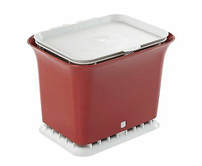 Full Circle Fresh Air 1.5 Gallon Odor-Free Kitchen Compost Collector, Red
