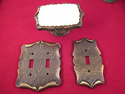Vtg Amerock Carriage House Antique Toggle Switch OUTLET SOAP DISH  PlateS