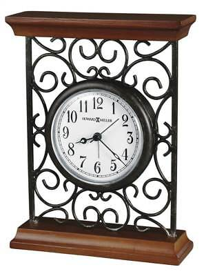 Mildred Table Top Clock w Metal Carriage-Style Frame [ID 14214]