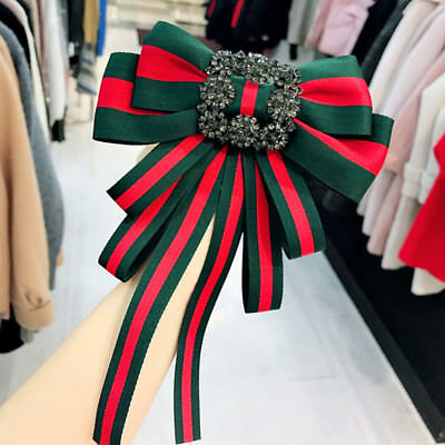 Women Bow Collar Party Decor British style Choker Brooch Accessories Ribbon Tie