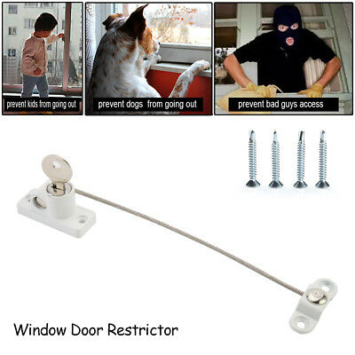 1/2/4x Window Door Restrictor Safety Lock UPVC Child Baby Security Wire Cable