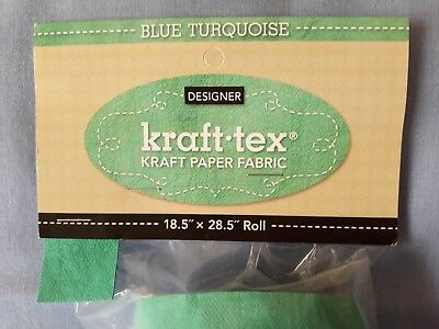 """Kraft-tex Designer Paper - Blue Turquoise (turquoise) - 18.5"""" x 28.5"""" Pre-washed"""