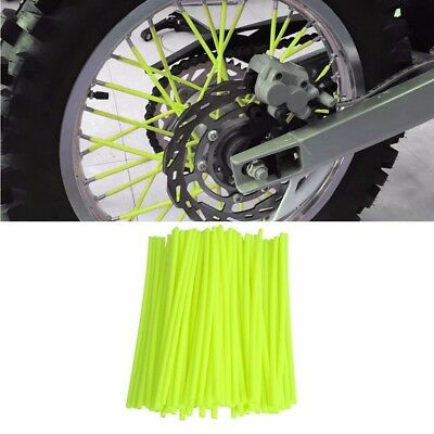Yellow 72pcs Wheel Spoke Skin Cover Wrap Kit for Motorcycle Motocross Dirt Bike