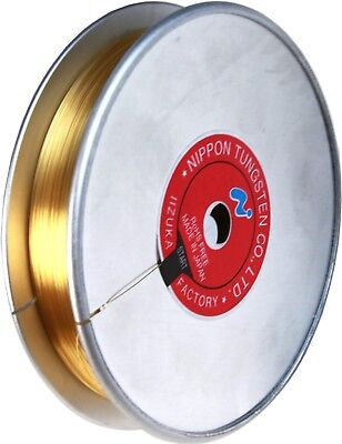 Tungsten Wire Gold Plated Diameter 0.01 inch (0.254 mm) Price Per Foot