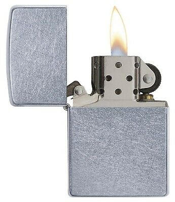 Genuine Zippo Pocket Lighter Regular Street Chrome classic full size ZIPPO 207