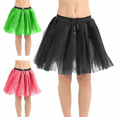 Ladies Girls 3 Layers 18 inches Tutu Skirt Hen Stag Do Party Dance Wear