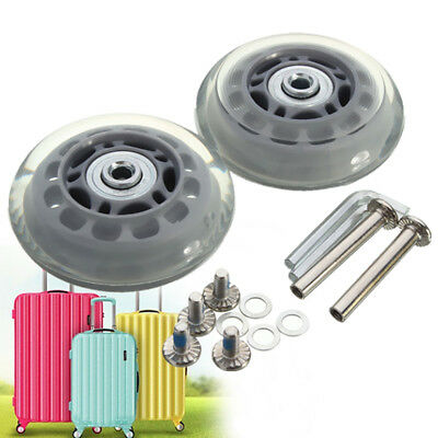 2 Set OD 70mm Baggage Luggage Suitcase Wheels Axles Replacement Deluxe Repair
