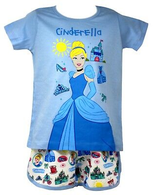 Official Disney Cinderella Shirt and Shorts Set in Blue for Girls