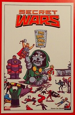 Marvel Secret Wars #1 Dr Doom by Skottie Young Promo Card - 2015 Comic Con SDCC