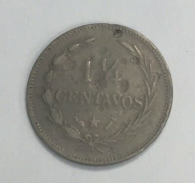 Dominican Republic 1888 1 1/4 Centavos Coin