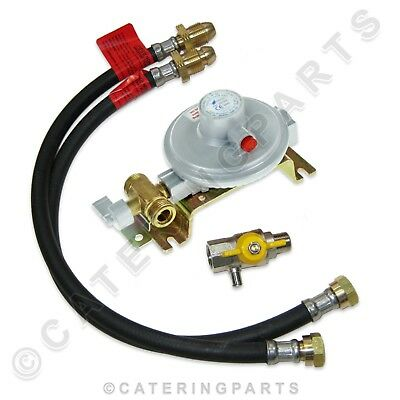 Two Gas Bottle / 2 Cylinder Change Over Kit Propane Lp Lpg Marine Regulator Boat