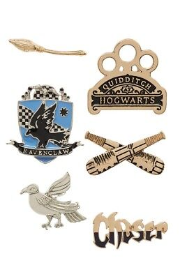 Harry Potter Ravenclaw Qudditch Pin Set Primark 6-er Pack