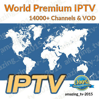 WORLD IPTV 1 MONTH 9400+ Premium Ch & VODs - US, UK, SE, Europe, Africa, Arabic