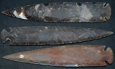 "*** 9"" Flint Spearhead Arrowhead OH Collection Project Points Knife Blade ***"